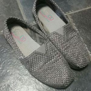 Bob's from Skechers Slip ons in Silver